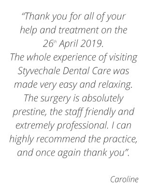 Testimonial Dentist Coventry